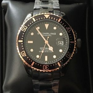 STUHRLING watch - Black- NEW